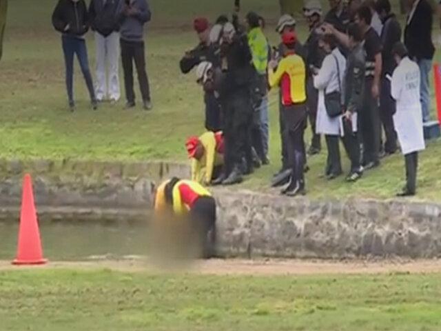 Trabajador fallece ahogado en laguna de club en San Isidro