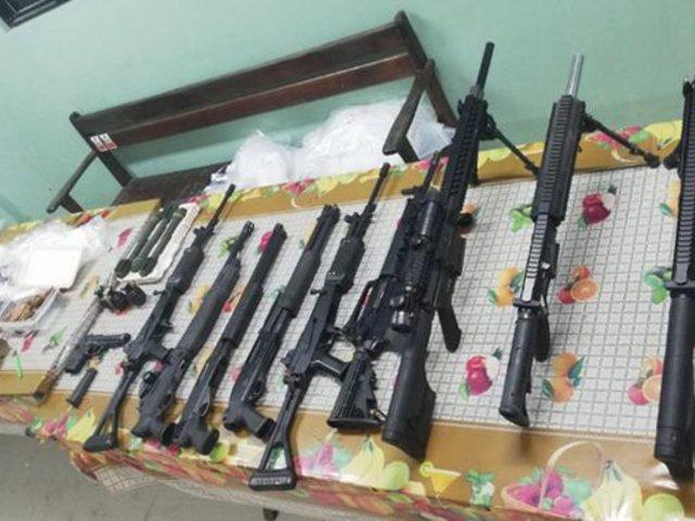Loreto: incautan gran cantidad de armas de guerra durante operativo