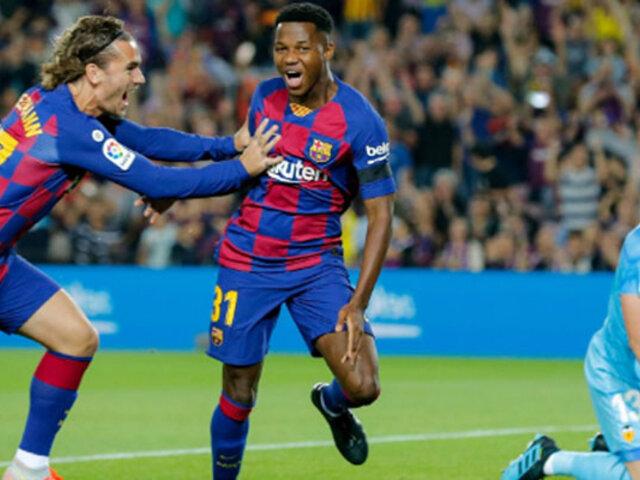 Barcelona derrota 5-2 a Valencia por la Liga española