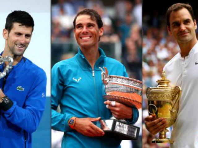 Nadal, Federer y Djokovic confirman participación en la primera edición del ATP Cup