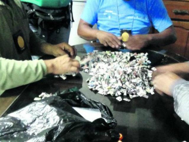 PNP aclaró sobre agentes Terna captados elaborando presuntos ketes de droga
