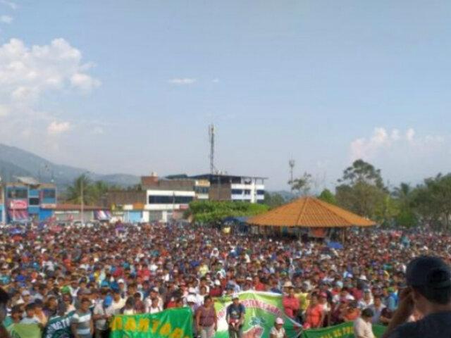 Vraem: acatan segundo día de paro en rechazo a erradicación de hoja de coca