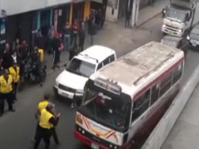 SJL: conductor de cúster se da a la fuga en pleno operativo