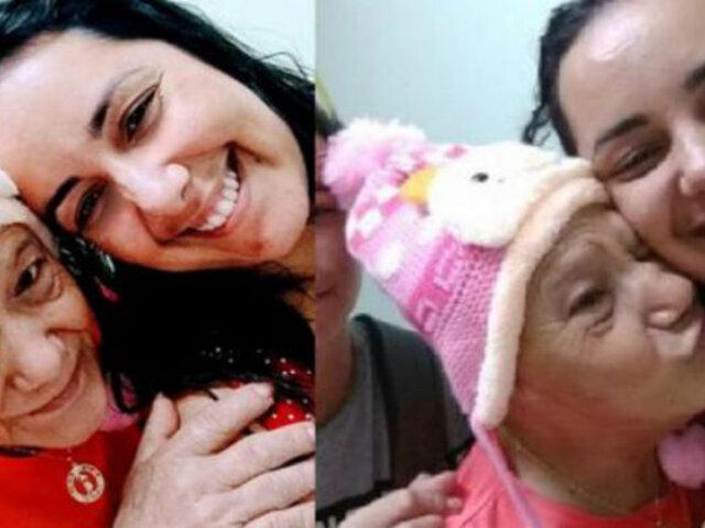 """Enfermera adopta a una anciana con cáncer abandonada por su familia: """"Es mi bebé"""""""