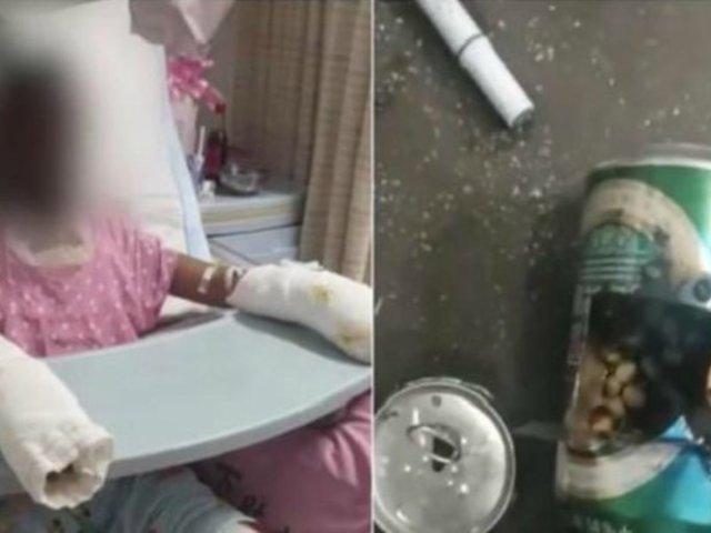 Niña muere quemada mientras realizaba un experimento casero