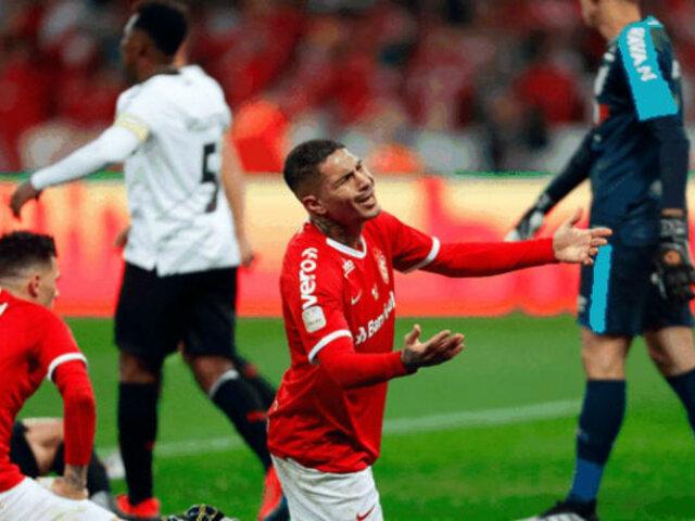 Paolo Guerrero recibió dos fechas de sanción por expulsión en Inter vs. Flamengo