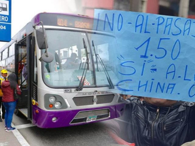 SJL: vecinos protestan por falta de buses de Corredor Morado