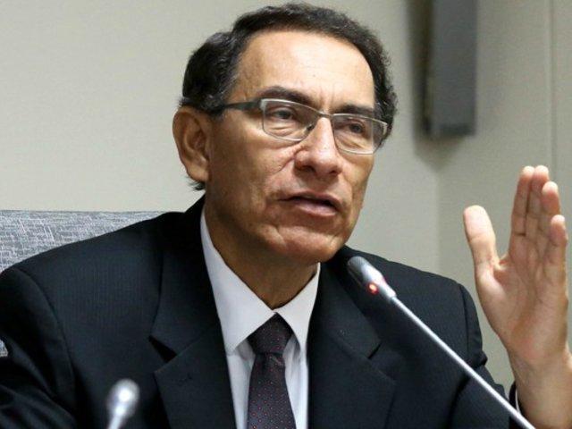 """Vizcarra afirma que """"Niveles de pobreza han disminuido en los últimos años"""""""