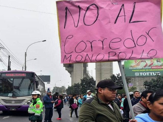 SJL: reportan disturbios durante protesta contra Corredor Morado