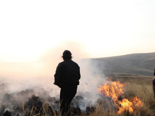 Huancayo: controlan incendio forestal que arrasó con 20 hectáreas de pastizales