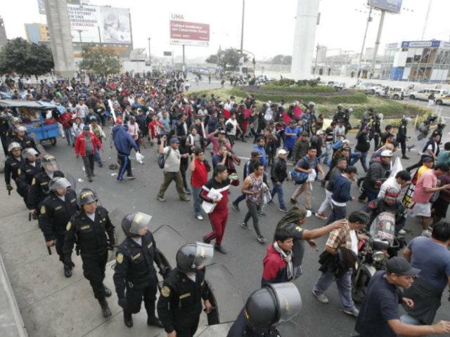 Congresistas se reunieron con transportistas que protestaron en contra del Corredor Morado