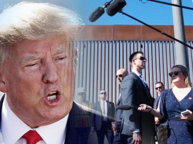 EEUU: Donald Trump supervisó construcción de muro en frontera con México