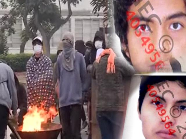 Estos son los rostros de los infiltrados del Movadef en las marchas de la UNMSM