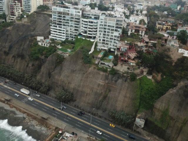 Costa Verde: declaran en emergencia acantilados por peligro de derrumbes