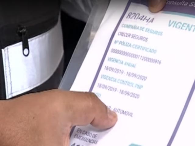Magdalena: detienen a falsificador de SOAT electrónicos para motos