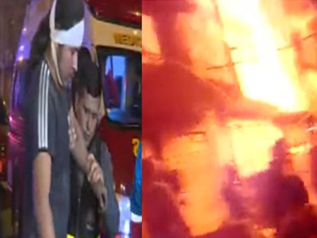 Incendio consume viviendas en quinta de La Victoria