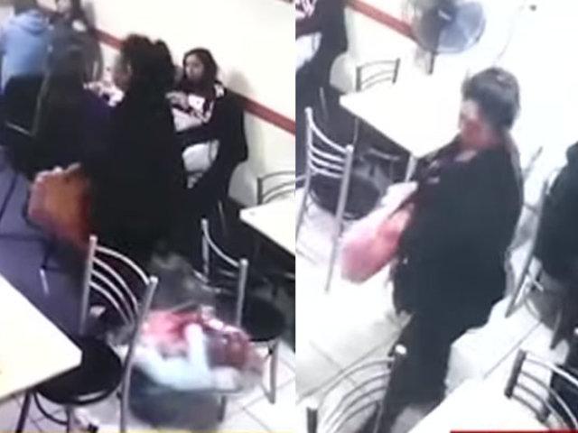 Pueblo Libre: pareja es captada robando en restaurante