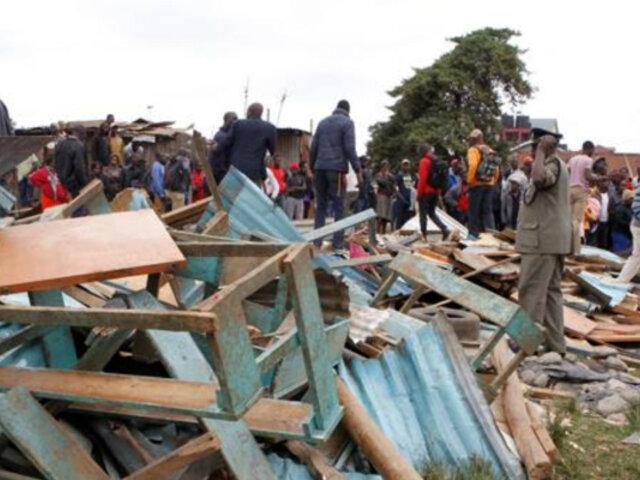 Kenia: al menos siete niños muertos y 57 heridos tras derrumbe de escuela