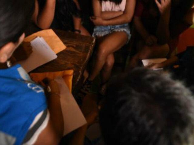 La Victoria: PNP desarticula banda criminal dedicada a trata de personas