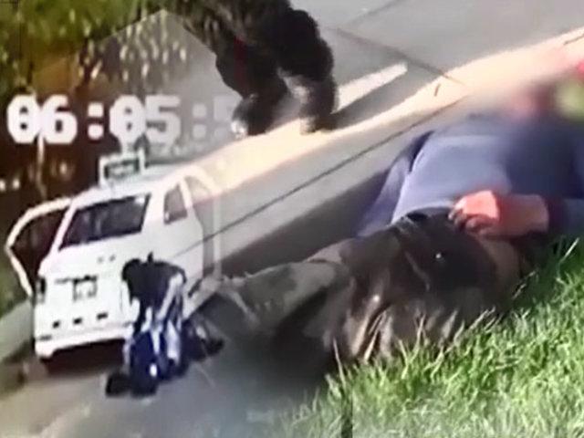 Arequipa: mujer abandona en vía pública a dos hombres presuntamente drogados