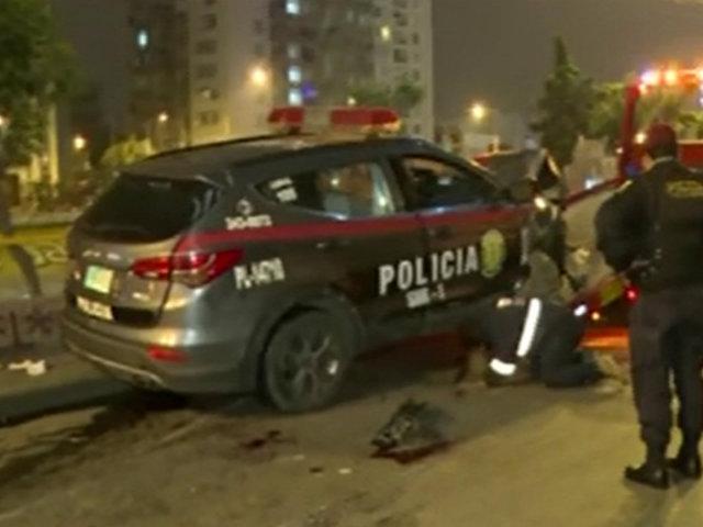 Surquillo: patrullero choca contra vivienda durante persecución