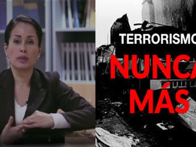 Elizabeth Zea: A la fecha no contamos con una política contra el terrorismo