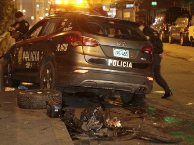 Surquillo: policías que se accidentaron durante persecución están estables