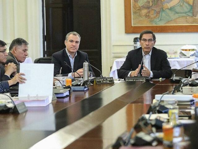 Martín Vizcarra preside sesión del Consejo de Ministros