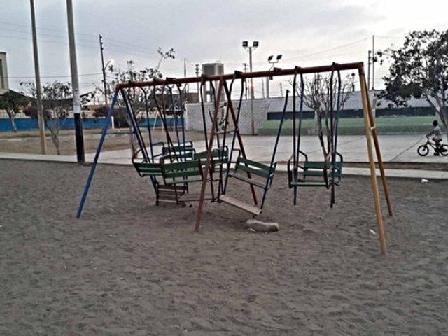 Ica: colapso de parque infantil pone en riesgo vida de niños