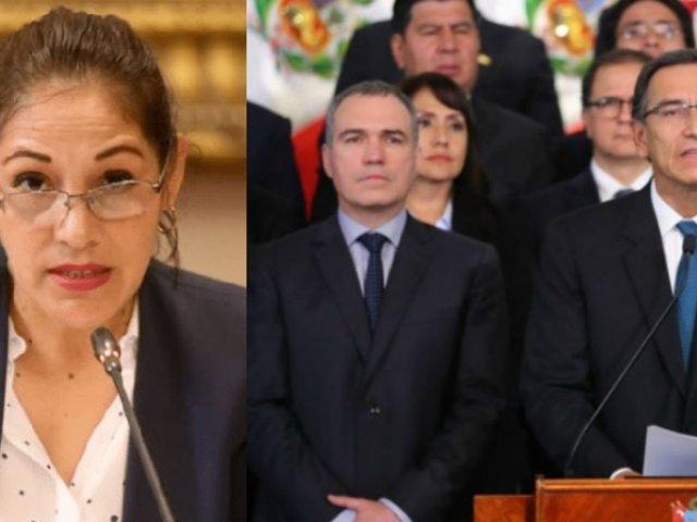Milagros Salazar: A Vizcarra le corresponde la cárcel si va en contra de la Constitución