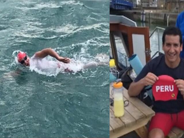 Eduardo Collazos: el segundo peruano que ha cruzado nadando el Canal de la Mancha