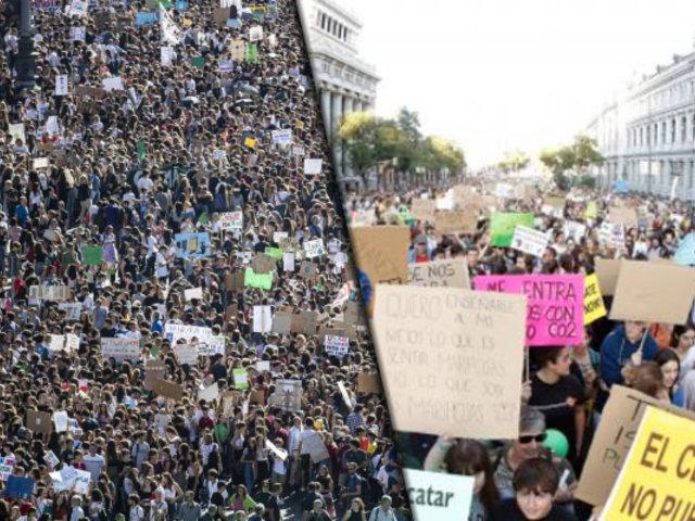 Se realizó nueva marcha contra el cambio climático en 27 países