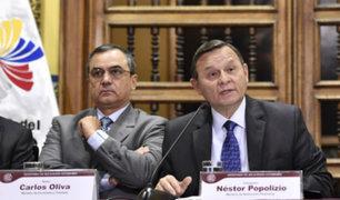 Confirman salidas de ministros Carlos Oliva y Néstor Popolizio