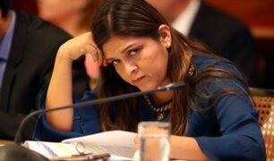 Karina Beteta asegura que hubo un golpe de Estado