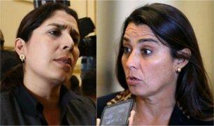 Karla Schaefer y Úrsula Letona fueron impedidas por la Policía de ingresar al Congreso