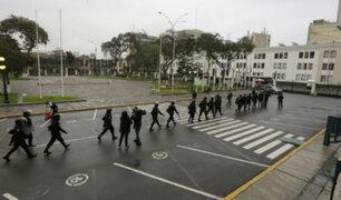 Policías de la Dinoes ingresaron a la Plaza Bolívar del Congreso