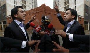 Gilbert Violeta: ciudadanos le tiran agua mientras declaraba a la prensa