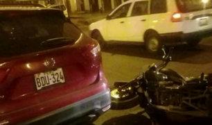 Callao: motociclista resultó herido tras choque con camioneta