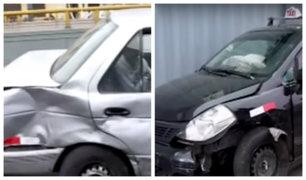 Cercado de Lima: al menos cinco heridos tras aparatoso choque de autos