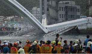 Taiwán: recuperan cuerpos de cinco desaparecidos en derrumbe de puente