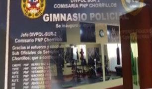 Inauguran gimnasio policial en comisaría de Chorrillos