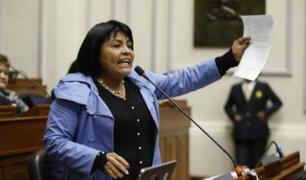 Excongresista Esther Saavedra arremetió contra ciudadanos venezolanos durante último Pleno