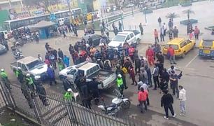 Mototaxistas informales se enfrentan a serenos en Villa María del Triunfo