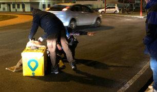 San Miguel: repartidor de Glovo salvó de morir tras ser embestido por auto