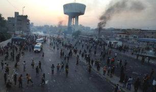 Irak: declaran toque de queda tras ola de protestas en Bagdad