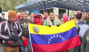Ecuador: desalojan a 150 venezolanos que improvisaron campamento en complejo deportivo