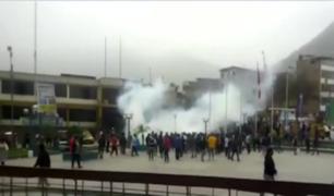 VMT: violenta gresca durante operativo contra mototaxistas informales