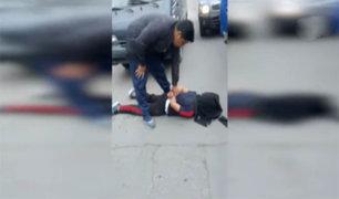 Capturan sujeto cuando robaba el tablero eléctrico de un camión