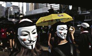 Miles de manifestantes enmascarados vuelven a paralizar Hong Kong