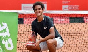 El tenista peruano Juan Pablo Varillas se coronó campeón en Brasil